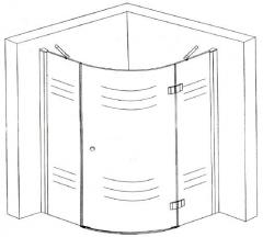 BL-052 angular shower cabins