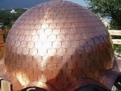 Roofing made of copper