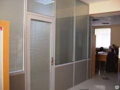 Aluminum office partitions.