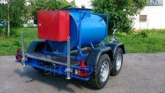 Açık renk petrol ürünlerini taşıyıcı tanker dorse