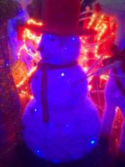 Светящийся снеговик. Производство ШАНХАЙ. Качество 100%.