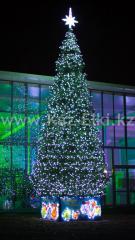 Уличная искусственная каркасная ель Уральская (хвоя-пленка), высотой 13 м