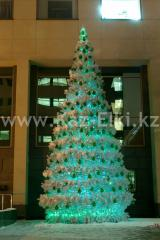 Уличная искусственная каркасная ель Уральская (хвоя-пленка), высотой 14 м