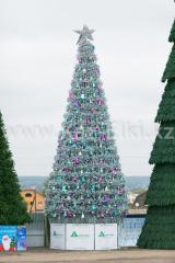 Уличная искусственная каркасная ель Уральская (хвоя-пленка), высотой 15 м