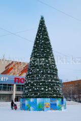 Уличная искусственная каркасная ель Уральская (хвоя-пленка), высотой 4 м