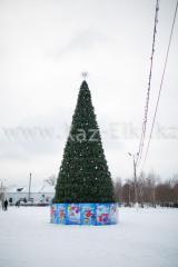 Уличная искусственная каркасная сосна Уральская (хвоя-леска), высотой 12 м