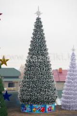 Уличная искусственная каркасная сосна Уральская (хвоя-леска), высотой 14 м