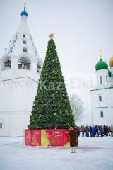 Уличная искусственная каркасная сосна Уральская (хвоя-леска), высотой 15 м