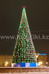 Уличная искусственная ствольная ель Альпийская (хвоя-пленка), высотой 13 м
