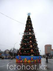 Уличная искусственная ствольная ель Альпийская (хвоя-пленка), высотой 8 м