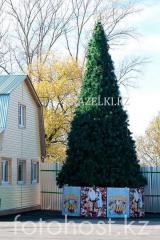Уличная искусственнаяствольнаясосна Уральская (хвоя-леска), высотой 7 м