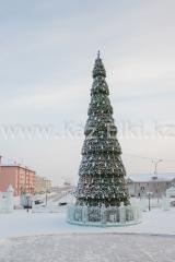 Уличная сегментная ель каркасного типа высотой 21 метров для площади