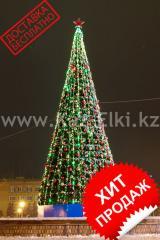 Уличная искусственная каркасная ель Уральская (хвоя-пленка), высотой 5 м