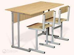 School desks are school, student's in