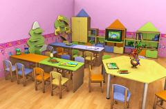 Furniture for preschool institutions
