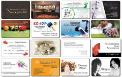 Business cards are exclusive, plastic, Kostanay