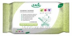 Влажные салфетки ZALA для детей, с экстрактом алое
