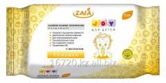 Влажные салфетки ZALA для детей, с экстрактом