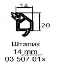 Профиль 03507 016 Штапик 14 мм, белый, с серым
