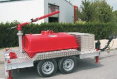 Передвижной блок для пены с резервуаром (1500 литров) с водопенным стволом