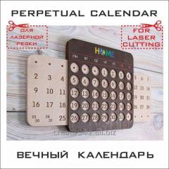 Календарь деревянный