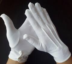 Перчатки военные парадные белого цвета