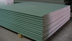 Gypsum cardboard moisture resistant, usual,