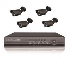 Готовый комлект системы видеонаблюдения на 4