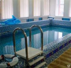 Glass mosaic for the pool