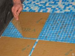 Glass mosaic for a floor
