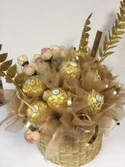 Bouquets from candies