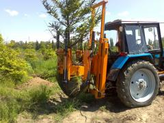 Optimal Opitz 880 stump pullers (on loader) with