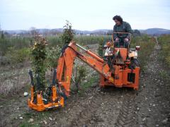 The Optimal 350 stump puller with lifting pivoting