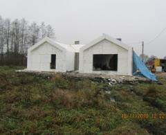 The house from expanded polystyrene