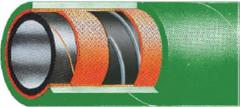 Hoses for chemical products, production