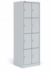 Шкаф для сумок двухсекционный с восемью отделениями