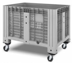 Перфорированный полимерный контейнер на колесах Ibox