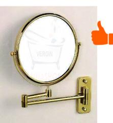 Настенное зеркало увеличительное (Бронза)