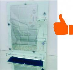 Зеркало настенное для ванной комнаты (Белый)