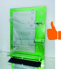 Зеркало настенное для ванной комнаты (Зеленый со