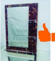 Зеркало настенное для ванной комнаты (мраморного