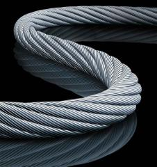 Rope of a steel double twist of GOST 2688-80