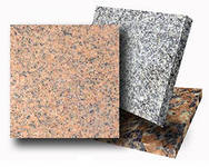 Tiles facing of granite