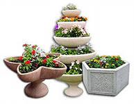Flowerpots are stree