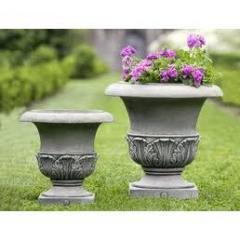 Flowerpots from a fibrobeton