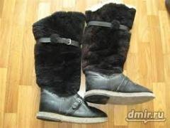 High fur boots are aviation