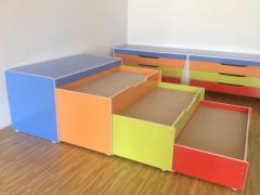 Кровати трех ярусные для детских садов
