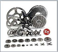 Knives and lattices for meat grinders of KT firm