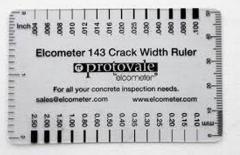 Ruler for calculation of width of cracks on