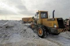 Street snow removal equipment
